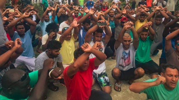 Asylum seekers refusing to leave the Manus Island facility.
