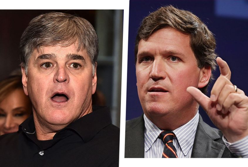 Sean Hannity, left, and Tucker Carlson (Getty Images)