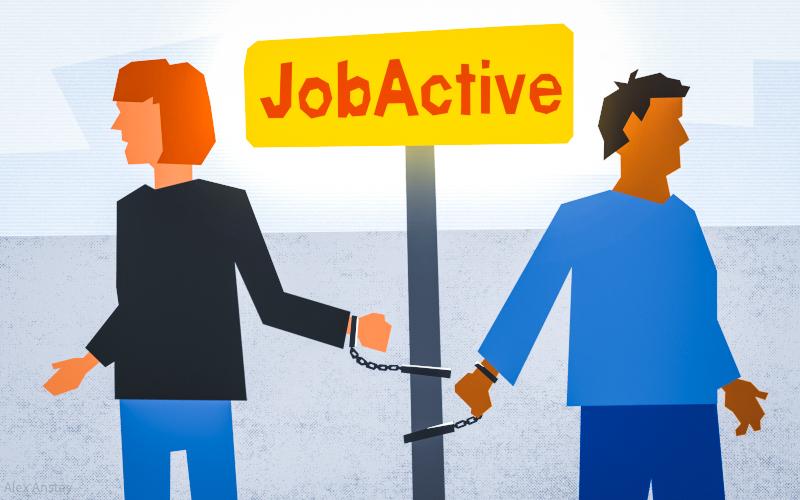 Job active illustration
