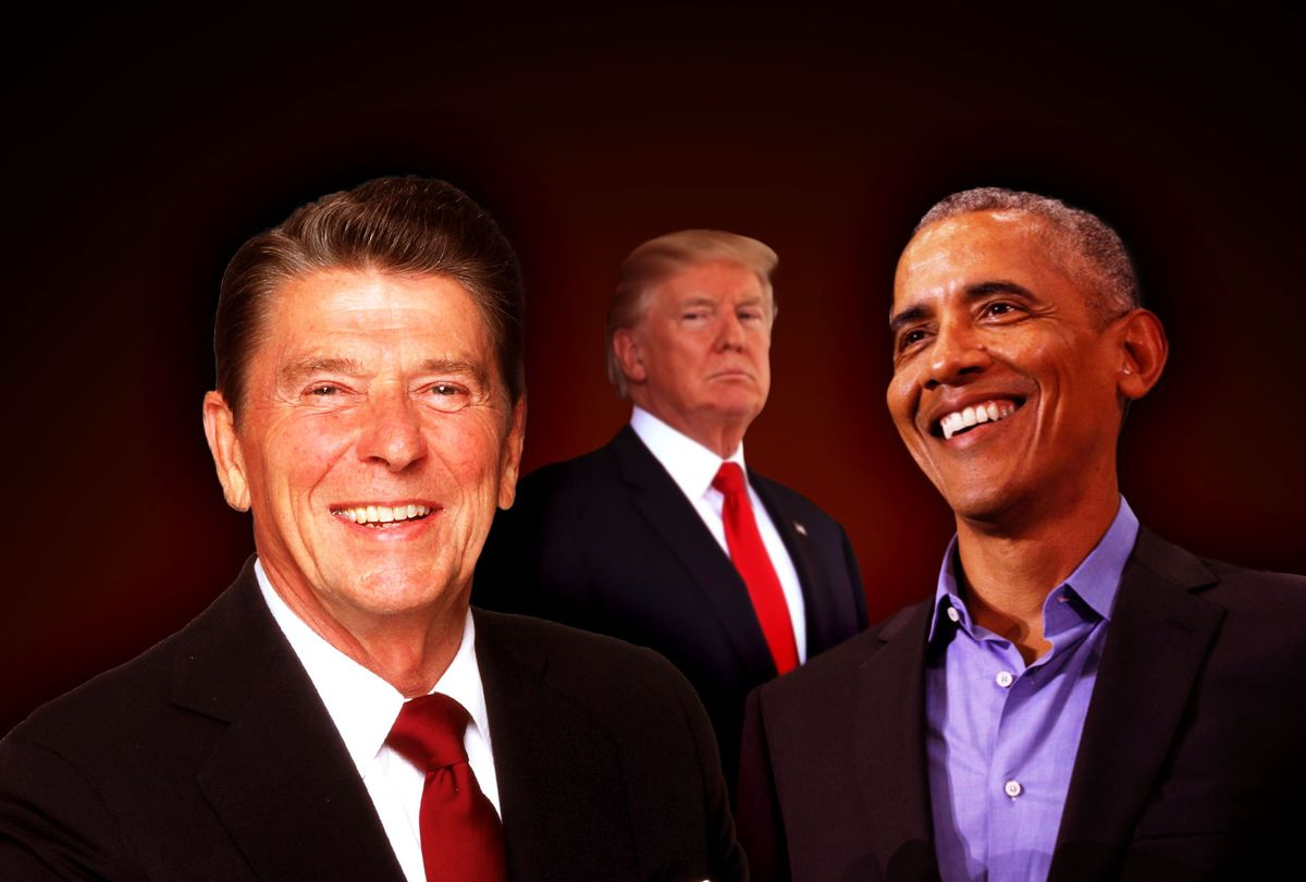 Ronald Reagan, Barack Obama and Donald Trump (Photo illustration by Salon/Getty Images)