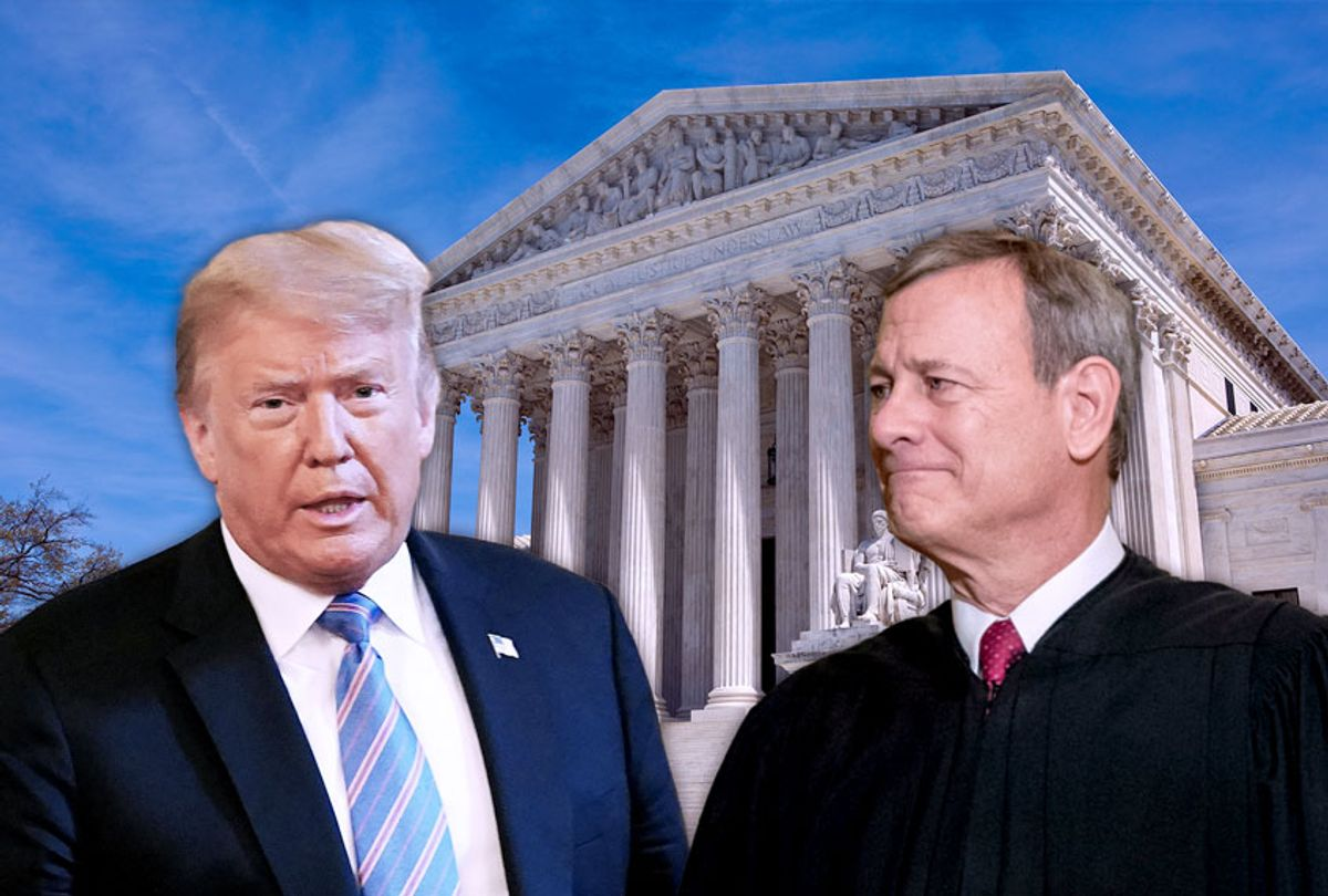 US President Donald Trump and Supreme Court Justice John Roberts (Getty Images/Salon)