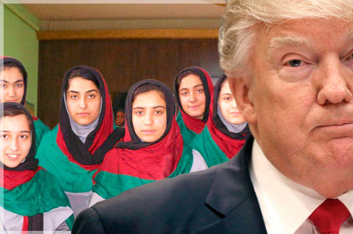 Afghanistan's all-girl robotics team (First Global/Getty/Mark Wilson)
