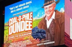 Billboard mocks Morrison as Australia prepares for COP26