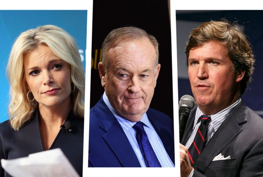 Megyn Kelly, Bill O'Reilly and Tucker Carlson (Photo illustration by Salon/Getty Images)